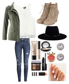 """#Jordan'sBackToSchool"" by jordan-beasley ❤ liked on Polyvore featuring H&M, Wet Seal, Zimmermann, Bare Escentuals, NARS Cosmetics, MAC Cosmetics, tarte, Laura Geller, Topshop and OroClone"
