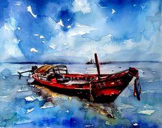 'SICAK GÜNLER' 47.3 x 37.2  #watercolor #tekne #suluboya #art #artist