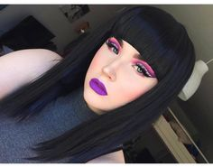 @ainomakeup Has some serious mad Blunt fringe skills! This is Lush style: Paris  Kinda epic  #lushwigsparis #lushwigs #wig #bluntfringe #wigs #lushhair #makeup - Available now from Lushwigs.com