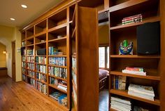 31 Beautiful Hidden Rooms And Secret Passages Q: Why would anyone want to keep such beautiful spaces a secret? A: Because secret rooms are awwwweeesooome. Room Door Design, Small Room Design, Room Interior Design, Interior Doors, Hidden Spaces, Hidden Rooms, Small Spaces, Passage Secret, Bookshelf Door