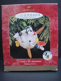 Hallmark Keepsake Ornament 1997 Goofy's Ski Adventure Mickey & Co.