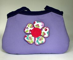 Girl Purse Lilac and Purple with Flower Detail