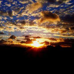 Por do sol por aqui ! Sunset :)