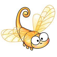golden dragonflye