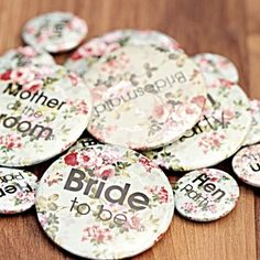 Etsy Ping Cart Wedding Badges Hen Party Bridesmaid Gifts Ideas