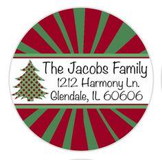 christmas return address labels envelope seals address labels