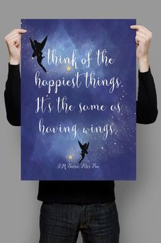 J.M. Barrie quote Peter Pan quote Instant by QuotesandProse