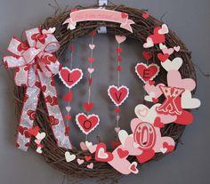 322 Best Valentine Wreaths Images On Pinterest Valentine Day