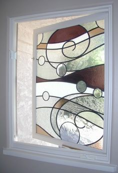 Come and see this abstract ocean wave stained glass by one of the best artisans in the medium. Stained Glass Designs, Stained Glass Panels, Stained Glass Projects, Stained Glass Patterns, Leaded Glass, Stained Glass Art, Mosaic Glass, Mosaic Patterns, Ideas Hogar
