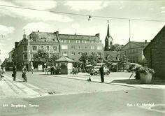 Østfold fylke Sarpsborg Torvet Utg K. Nordahl 1950-tallet