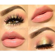 10 Golden Peach Makeup You Must Love