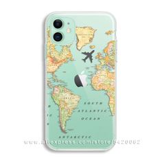 Luxury World Map Travel Soft TPU Phone Case For Iphone 11 Pro XR XS Max Clear Silicone Cover For Iphone 6 7 8 Plus - Polarreut kamaras bemalung Rollschuhe und Airpods - Phonecases Iphone 8, Diy Iphone Case, Coque Iphone, Iphone Phone Cases, Iphone Case Covers, Clear Phone Cases, Apple Iphone, Diy Case, Iphone 6 Plus Case