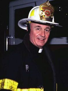 Father Mychal Judge, fire dept. chaplain, died in the Twin Towers with the firemen he served on 9/11