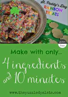 St. Paddy's Day Rainbow Treats - Sweet and simple St. Patrick's Day treat! Another gluten free option from @puzzledpalate
