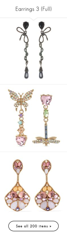 """""""Earrings 3 (Full)"""" by middletondonna ❤ liked on Polyvore featuring jewelry, earrings, pave earrings, nickel free earrings, nickel free clip on earrings, swarovski crystal charms, ribbon charms, multi, multi colored earrings and multi color earrings"""