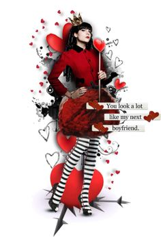 Queen of Broken Hearts Dark Queen, Were All Mad Here, Queen Of Hearts, Halloween Costumes, Valentines, Christmas Ornaments, Disney Princess, Holiday Decor, Polyvore