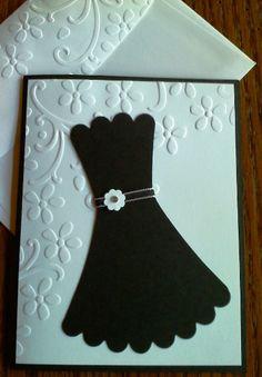 Handmade little black dress card/invitation