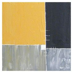 Items similar to Yellow Grey White - Original abstract painting on canvas on Etsy Abstract Canvas Art, Painting Inspiration, Creative Art, Grey And White, Art Work, Colours, Paintings, Fine Art, Wall Art