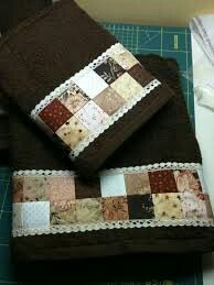 Need to add a border of quilt squares to my bath linens...will jazz them up for sure!