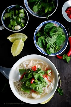 Vietnamese Chicken Noodle Soup: Pho Ga Recipe by @SpicieFoodie