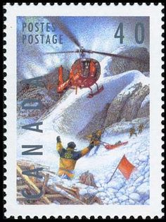 Sello: Ski Patrol (Canadá) (Dangerous Occupations) Mi:CA 1204