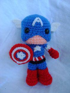 Captain America by CrochetforKiddos on Etsy, $20.00