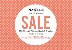 An attractive WATCH makes an important impression. Find a new look for the best prices! Visit: www.nemesiswatch.com
