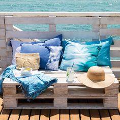 100 ideas DIY para un verano perfecto Easy Diy Crafts, Diy Room Decor, Loft, Throw Pillows, Chair, Bed, House, Style, Macrame Chairs