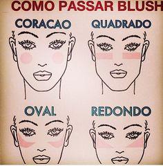 Um postizinho para cada tipo de rosto deve usar o blush:)!Importante no dia a dia ,já que revela um ar de saúde!