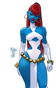 Mystique by Otto Schmidt * character Rpg art Marvel Art, Otto Schmidt, Character Design, Character Art, Comic Books Art, Black Cartoon, Art, Superhero Art, Cartoon Art
