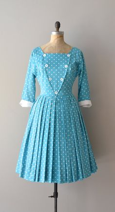 #1950s #partydress #dress #vintage #retro #petticoat #romantic #feminine #fashion #pleats #polkadots