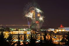 Hallgrimskirkja New Years 2012-  Sure it will be pretty but I'm not really looking forward to it..at least not 5 hours after new years...