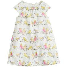 J.Crew Girls birdsong print dress- so cute