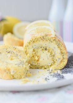 Lemon Poppy Seed Cake Roll - Zitronen Rolle mit Mohn #summer #lemon #cakeroll | Das Knusperstübchen