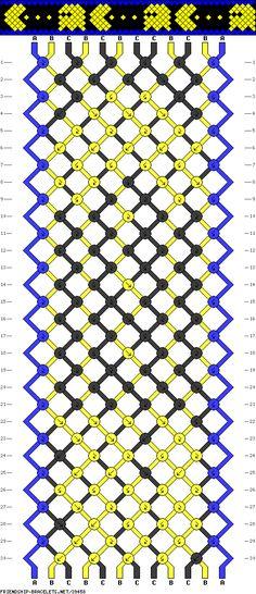 Pacman friendship bracelet pattern by LuckyLux Thread Bracelets, Embroidery Bracelets, Macrame Bracelets, Bracelets For Men, Pandora Bracelets, Bracelet Fil, Bracelet Crafts, Bracelet Making, Man Bracelet