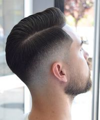 Combover Hairstyles, Mens Hairstyles With Beard, Long Face Hairstyles, Hard Part Haircut, Side Part Haircut, Pompadour Fade Haircut, Beard Haircut, Long Hair Fade, Long Hair Cuts
