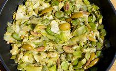 MONIKA CHODYNA: Cukinia z bobem i oliwkami