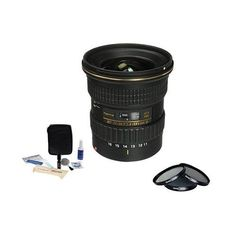 Tokina 11-16mm 2.8 ATX Pro DXII Lens f/Canon APS-CDSLR, USA. Value Kit w/Acc. This Item Includes: Tokina 11-16mm F/2.8 ATX Pro DX II Lens for Canon APS-C (DX) - Front & Rear Lens Caps - BH-77B Hood - Tokina 3 Year USA Warranty - 77mm Digital Essentials Filter Kit (Includes: UV Filter Slim Circular Polarizer Filter - ND2 Filter - Case) - Adorama 1836A Cleaning Kit for Optics and Cameras (Includes: Spray Cleaning Fluid - Cotton Swabs - Lens Cloth - 3 Sheets Universal LCD Screen Protectors -...