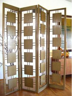 Mid Century wooden divider screen