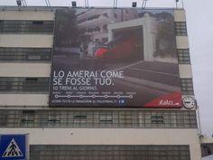 #Italo treno ha scelto la maxi affissione in Piazzale Roma: advertising su Grande Struttura di mt 13x11 #Venezia #massimavisibilità