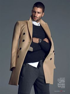 Saulo Melo styled by Antonio Branco and photographed by Greg Swales for the May issue of GQ Brazil