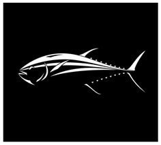 Whether or not you've caught the coveted bluefin tuna, your car can catch one on its window. This is a single piece vinyl tuna decal featuring a white bluefin tuna design on a transparent background c