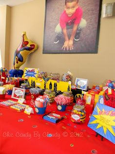 "Photo 5 of 26: Batman, Spiderman and Ironman Birthday (Superheroes Party) / Birthday ""Super Randy Super Heroes 5th Birthday"" 