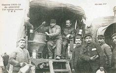 Clio Team Carte Postale Postcard 1914-1918 1915 Guerre en Argonne Une cuisine roulante