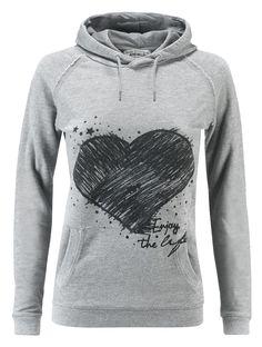 Felpa donna AWorld con cappuccio incrociato e stampa fotografica.   Shop online: http://www.athletesworld.it/felpa-aworld-garment-dyed-aworld-9192493