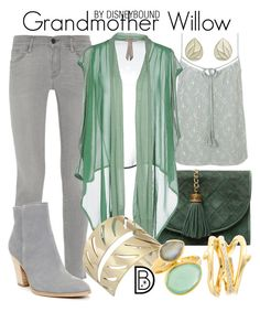 """Grandmother Willow"" by leslieakay ❤ liked on Polyvore featuring Frame Denim, Miss Selfridge, Toy G., Rebecca Minkoff, Juvi, Donald J Pliner, Shaun Leane, disney, disneybound and disneycharacter"