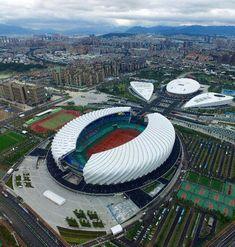 Haixia Sta Stadium Architecture, Concept Architecture, Modern Architecture, Soccer Stadium, Football Stadiums, Leonel Messi, Graduation Project, Sports Games, Ground Floor