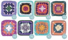 uncinetto, mattonelle, quadrati, granny square, crochet, pettern, simplycrochet,