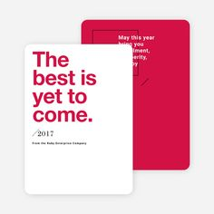 Bold Wishes Corporate New Year Cards from Paper Culture
