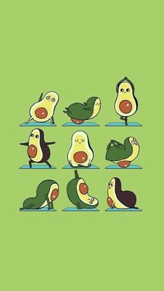 I think the eyes flirt most. There are so many ways to use them. Cute Cartoon Wallpapers, Cute Wallpaper Backgrounds, Iphone Wallpaper, Yoga Art, My Yoga, Avocado Cartoon, Cute Avocado, Funny Illustration, Jolie Photo